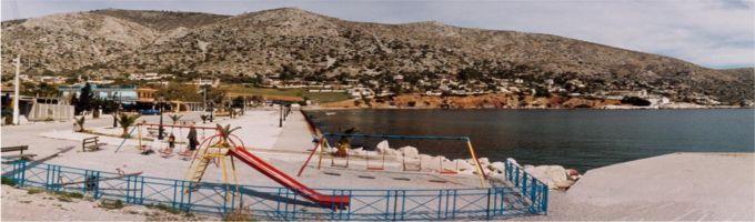 A panoramic view of the bay at Kaki Bigla.