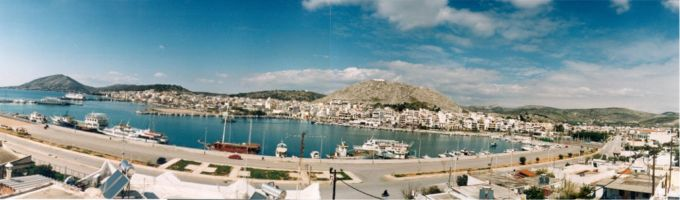 A panoramic view of Salamina's bay.